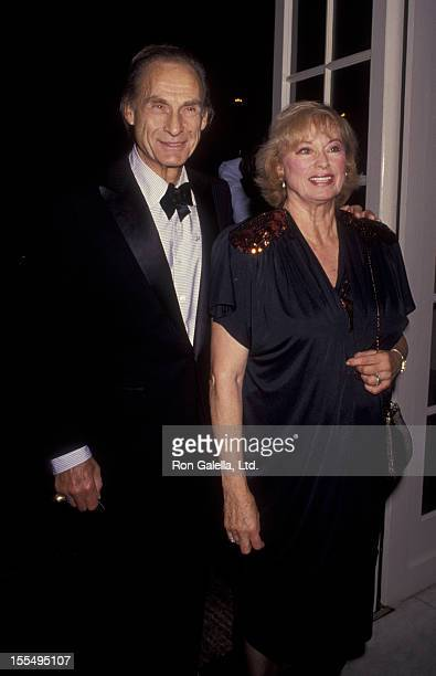 Actor Sid Caesar and wife Florence Caesar attend Television Academy Hall of Fame Awards on September 23 1991 at the Beverly Wilshire Hotel in Beverly...