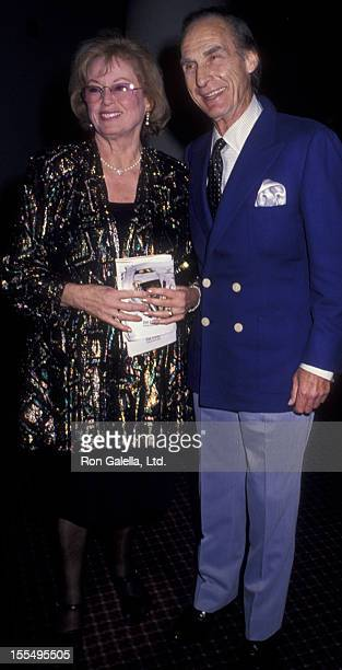 Actor Sid Caesar and wife Florence Caesar attend the opening party for Laughter on the 23rd Floor on November 22 1993 at the Marriott Marquis Hotel...