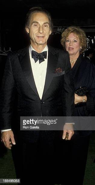 Actor Sid Caesar and wife Florence Caesar attend the screening party for The Naked Cage on February 22 1986 at Cannon Film Headquarters in Hollywood...