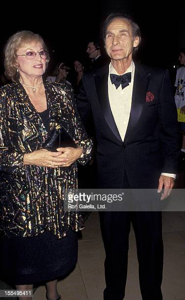 Actor Sid Caesar and wife Florence Caesar attend the taping of NBC Special Comedy Hall Of Fame on August 29 1993 at the Beverly Hilton Hotel in...