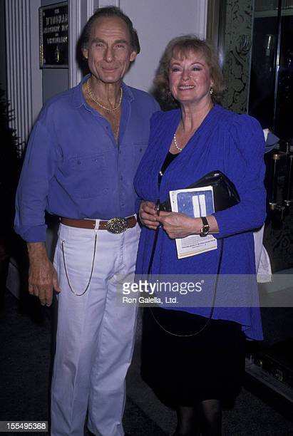 Actor Sid Caesar and wife Florence Caesar sighted on July 17 1989 at the Wyndham Hotel in New York City
