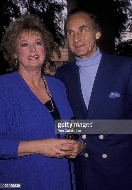 Actor Sid Caesar and wife Florence Caesar sighted on November 19 1988 at Belage Hotel in West Hollywood California