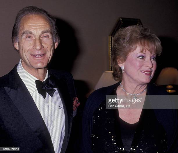 Actor Sid Casear and wife Florence Casear attend Friar's Club Roast Honoring Liza Minnelli on April 5 1987 at the Century Plaza Hotel in Century City...