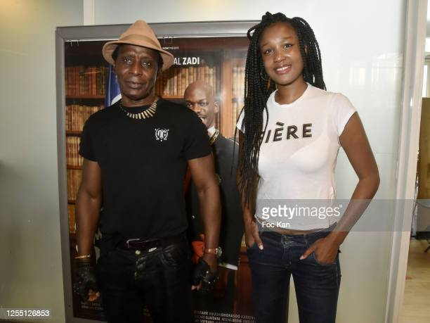 Actor Sidiki Bakaba and actress/director Aicha Ouattara attend a screening of Tout Simplement Noir at Cinema MK2 Bibliotheque on July 08 2020 in...