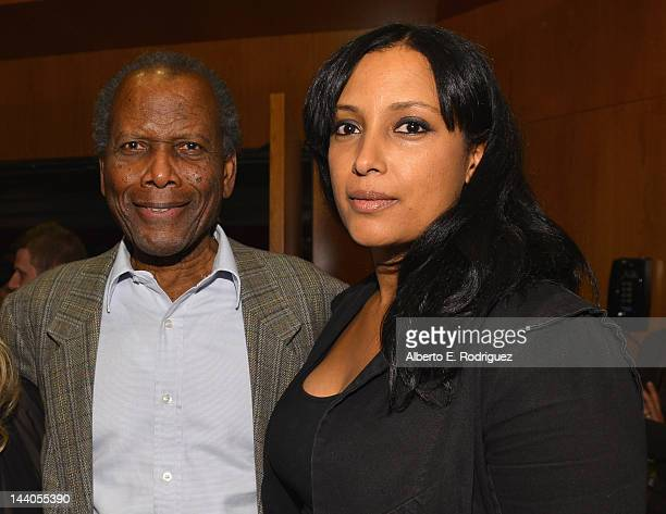 Actor Sidney Poitier and director Anika Poitier attend the 2012 AFI Women Directors Showcase at Directors Guild Of America on May 8 2012 in Los...