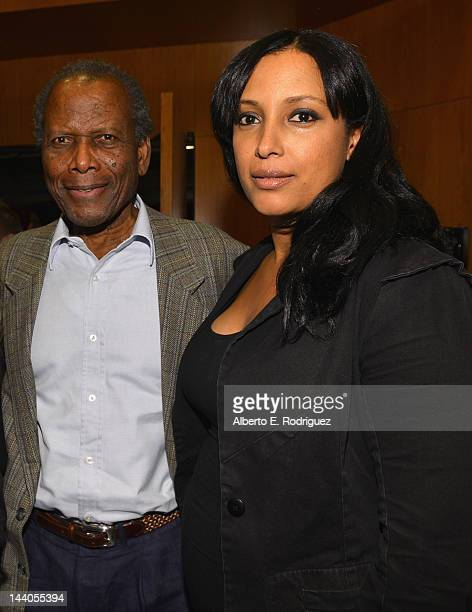 Actor Sidney Poitier and director Anika Poitier attend the 2012 AFI Women Directors Showcase at Directors Guild Of America on May 8, 2012 in Los...