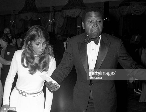 Actor Sidney Poitier and wife Joanna Shimkus attending 'Andrew Young For Congress Support Committee Dinner Dance' on June 10 1970 at the Pierre Hotel...