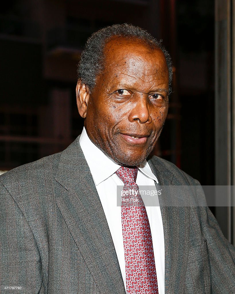 Actor Sidney Poitier attends 'MOTOWN THE MUSICAL' at the Pantages Theatre on April 30, 2015 in Hollywood, California.