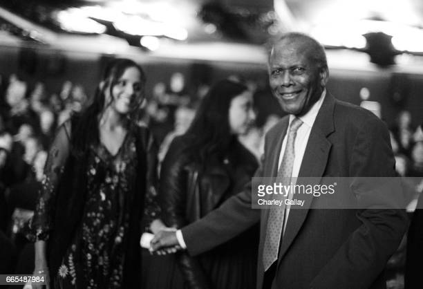 Actor Sidney Poitier attends the 50th anniversary screening of In the Heat of the Night during the 2017 TCM Classic Film Festival on April 6 2017 in...
