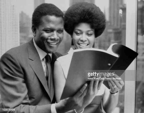 Actor Sidney Poitier with jazz singer Abbey Lincoln September 1967