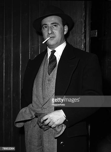 Actor Sidney Tafler on the set of the Film 'Tomorow is Sunday' also starring John Gregson, Joan Rice and Cyril Raymond, 1954