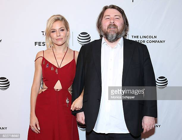 Actor Sienna Miller and Director / CoWriter Ben Wheatley attend 'HighRise' Premiere 2016 Tribeca Film Festival at SVA Theatre 2 on April 20 2016 in...