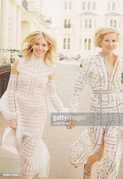 Actor Sienna Miller is photographed with her sister fashion designer Savannah Miller for Vanity Fair magazine on March 21 2016 in London England