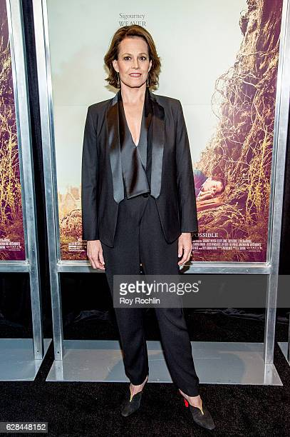 Actor Sigourney Weaver attends A Monster Calls New York Premiere at AMC Loews Lincoln Square 13 theater on December 7 2016 in New York City