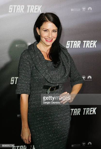 Actor Simmone Jade MacKinnon arrives for the world premiere of 'Star Trek' at the Sydney Opera House on April 7 2009 in Sydney Australia