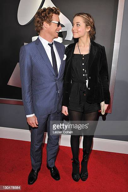Actor Simon Baker and guest arrive to the 51st Annual GRAMMY Awards held at the Staples Center on February 8 2009 in Los Angeles California