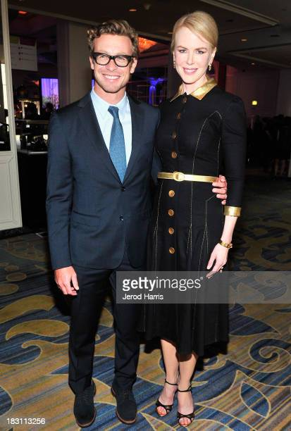 Actor Simon Baker and honoree Nicole Kidman attend Variety's 5th Annual Power of Women event presented by Lifetime at the Beverly Wilshire Four...