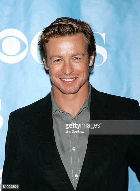 Actor Simon Baker arrives at the 2008 CBS UpFront at Carnegie Hall on May 14 2008 in New York City
