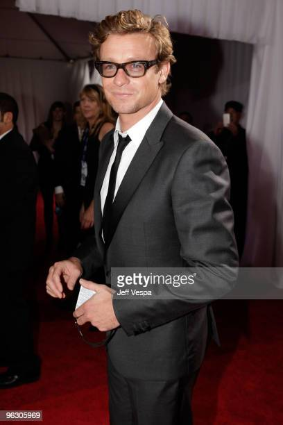 Actor Simon Baker arrives at the 52nd Annual GRAMMY Awards held at Staples Center on January 31 2010 in Los Angeles California