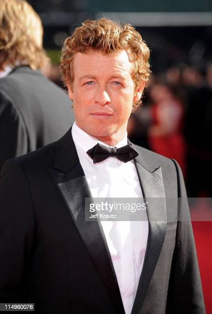 Actor Simon Baker arrives at the 61st Primetime Emmy Awards held at the Nokia Theatre on September 20 2009 in Los Angeles California