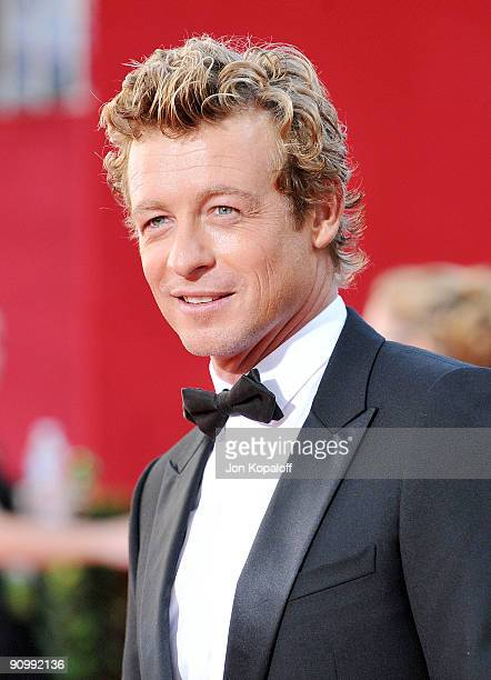Actor Simon Baker arrives at the 61st Primetime Emmy Awards held at the Nokia Theatre LA Live on September 20, 2009 in Los Angeles, California.