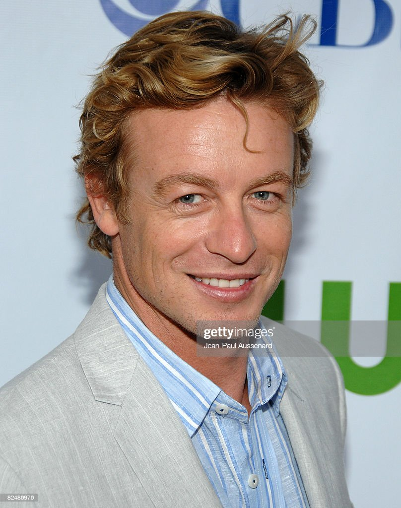 Actor Simon Baker arrives at the CBS, CW and Showtime Press Tour Stars Party held at Boulevard 3 on July 18th, 2008 in Hollywood, California.