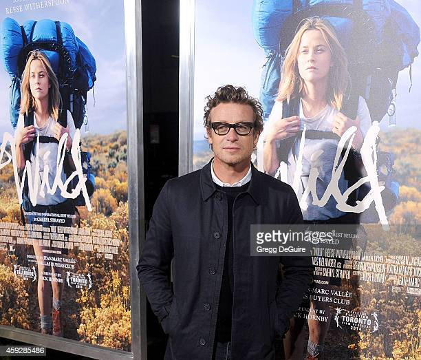 Actor Simon Baker arrives at the Los Angeles premiere of 'Wild' at AMPAS Samuel Goldwyn Theater on November 19 2014 in Beverly Hills California
