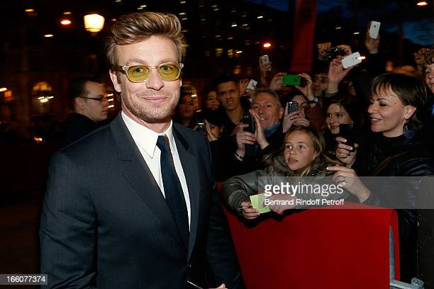 Actor Simon Baker attends 'Mariage A l'Anglaise' Premiere, held at Cinema UGC Normandie on April 8, 2013 in Paris, France.