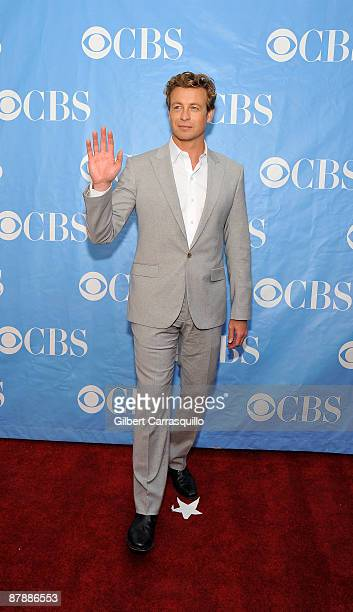 Actor Simon Baker attends the 2009 CBS Upfront at Terminal 5 on May 20 2009 in New York City