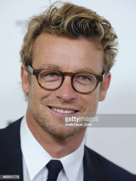 Actor Simon Baker attends the 2014 G'Day USA Los Angeles Black Tie Gala at the JW Marriott Los Angeles at LA LIVE on January 11 2014 in Los Angeles...