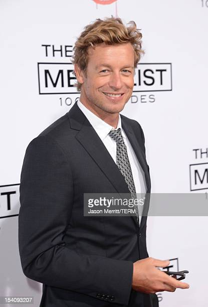 Actor Simon Baker attends the CBS 100 episode celebration of 'The Mentalist' held at The Edison on October 13 2012 in Los Angeles California