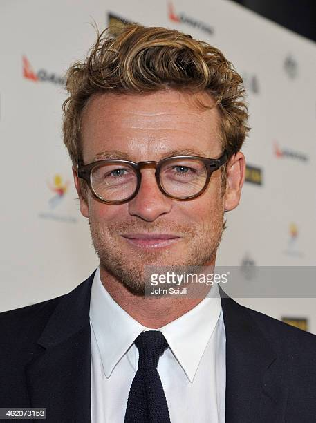 Actor Simon Baker attends the G'Day USA Los Angeles Black Tie Gala at JW Marriott Hotel at LA LIVE on January 11 2014 in Los Angeles California