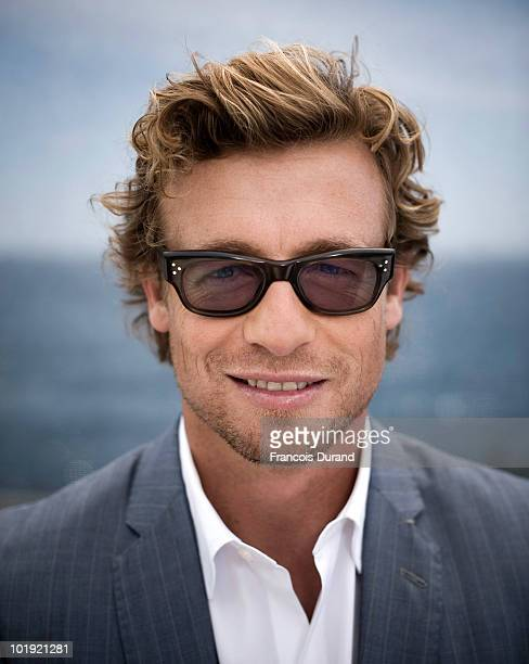 Actor Simon Baker attends 'The Mentalist' portrait session at Grimaldi Forum during the annual Monte Carlo Television Festival on June 9, 2010 in...