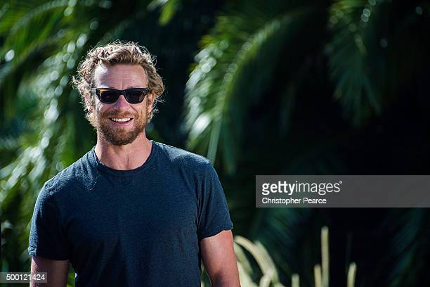 Actor Simon Baker before a Tropfest media conference on December 6 2015 in Sydney Australia Tropfest 2015 was cancelled three weeks before the event...