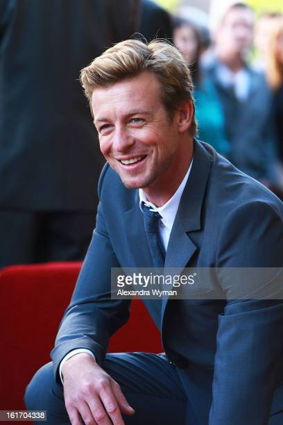 Actor Simon Baker Honored With Star On The Hollywood Walk Of Fame on February 14, 2013 in Hollywood, California.