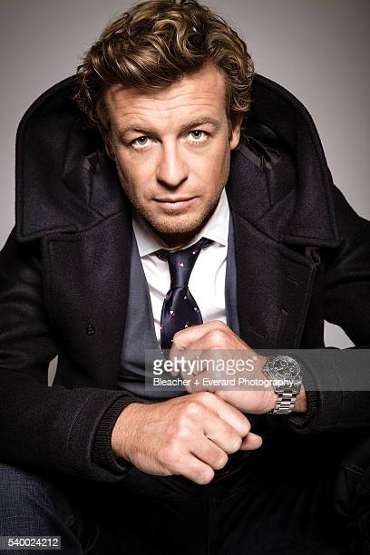 Actor Simon Baker is photographed for August Man on November 12 2014 in New York City Styling Erin McSherry Grooming Helen Robertson HydroConquest...