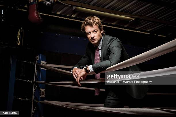 Actor Simon Baker is photographed for August Man on November 12 2014 in New York City Styling Erin McSherry Grooming Helen Robertson Heritage...