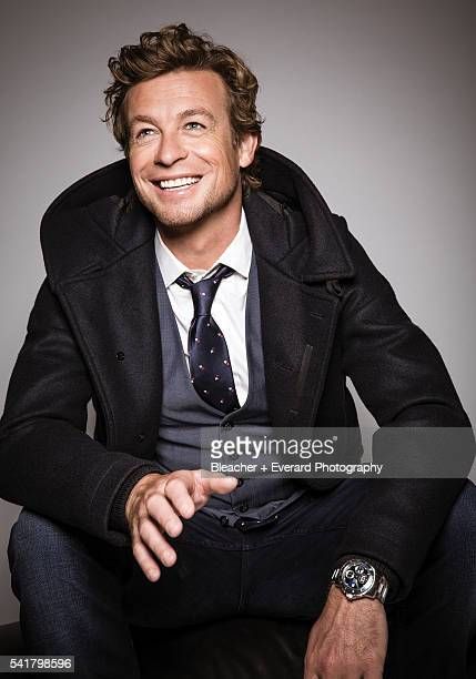 Actor Simon Baker is photographed for August Man on November 12, 2014 in New York City. Styling: Erin McSherry; Grooming: Helen Robertson....