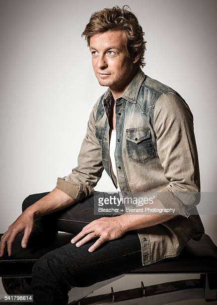 Actor Simon Baker is photographed for August Man on November 12 2014 in New York City Styling Erin McSherry Grooming Helen Robertson