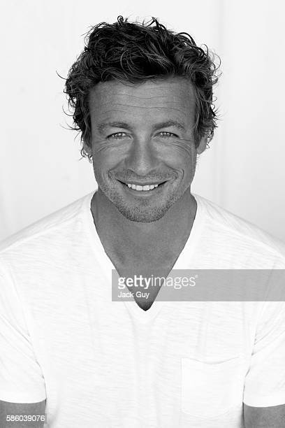 Actor Simon Baker is photographed for Emmy Magazine in 2009 in Los Angeles California