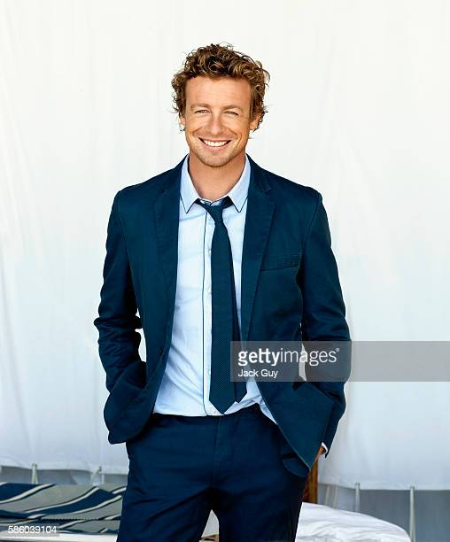 Actor Simon Baker is photographed for Emmy Magazine in 2009 in Los Angeles California COVER IMAGE