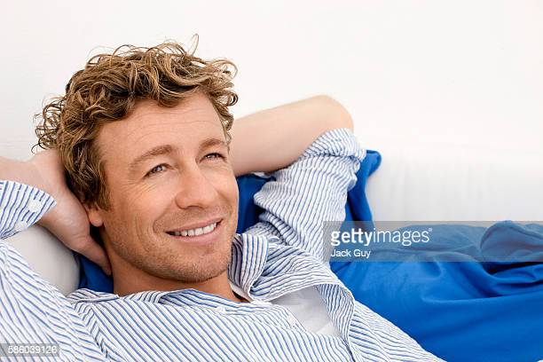 Actor Simon Baker is photographed for Emmy Magazine in 2009 in Los Angeles California PUBLISHED IMAGE