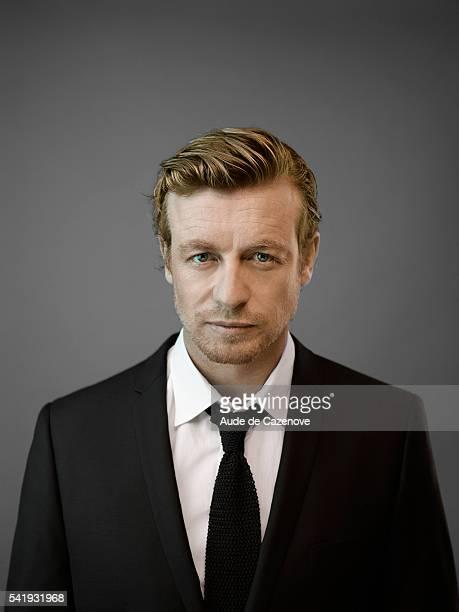 Actor Simon Baker is photographed for Self Assignment on June 16, 2012 in Paris, France.
