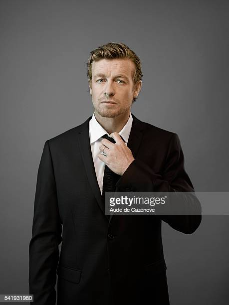 Actor Simon Baker is photographed for Self Assignment on June 16 2012 in Paris France