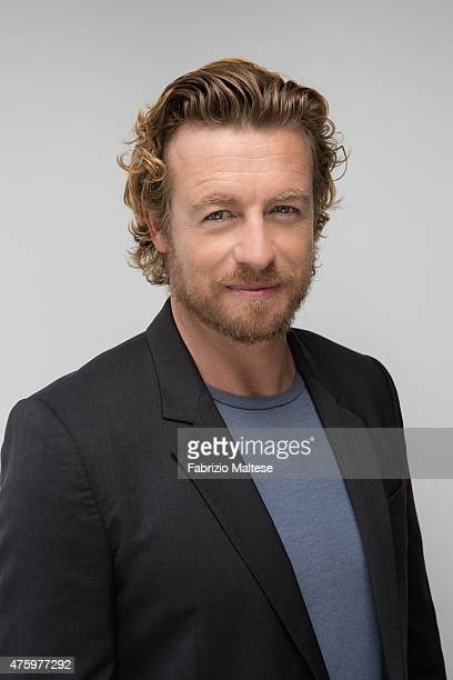 Actor Simon Baker is photographed on May 14 2015 in Cannes France