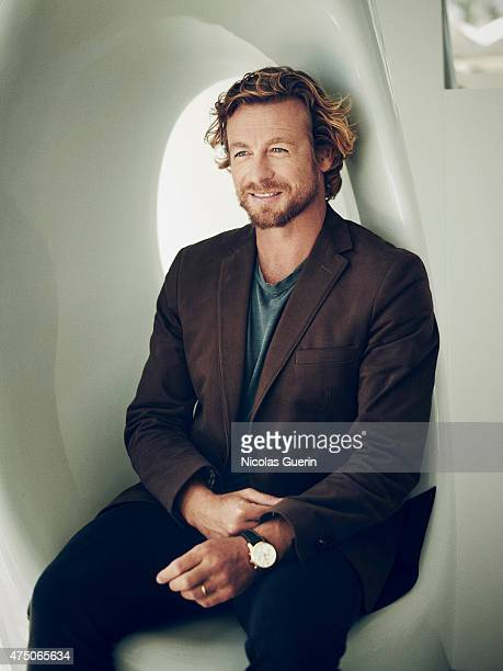 Actor Simon Baker is photographed on May 15, 2015 in Cannes, France.