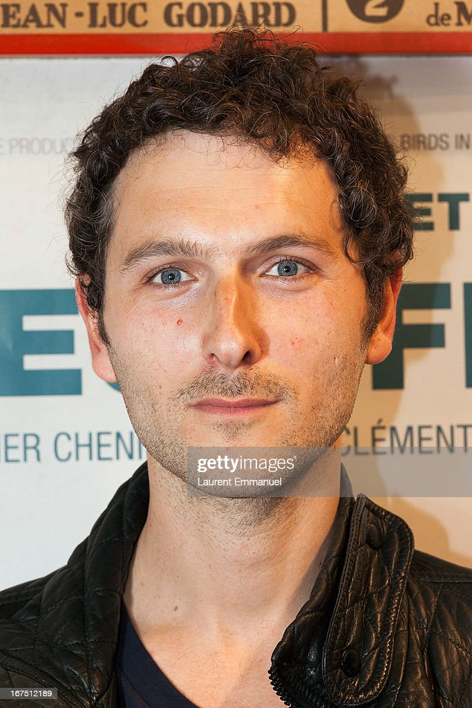 Actor Simon Buret attends 'Les Yeux Fermes' Paris premiere at Cinema Le Saint Andre Des Arts on April 25, 2013 in Paris, France.
