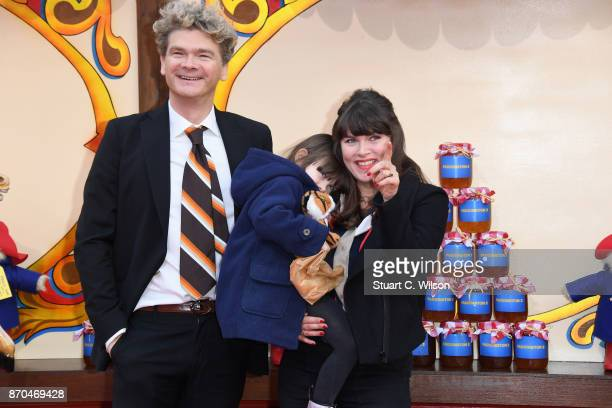 Actor Simon Farnaby and his family attend the 'Paddington 2' premiere at BFI Southbank on November 5, 2017 in London, England.