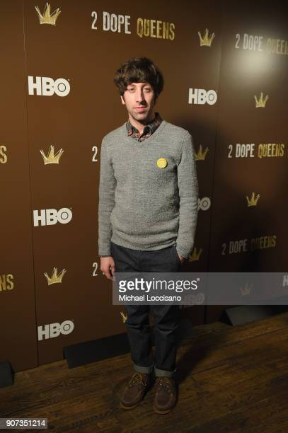 Actor Simon Helberg attends HBO's '2 Dope Queens' Winter Soiree during Sundance at Riverhorse On Main on January 19 2018 in Park City Utah