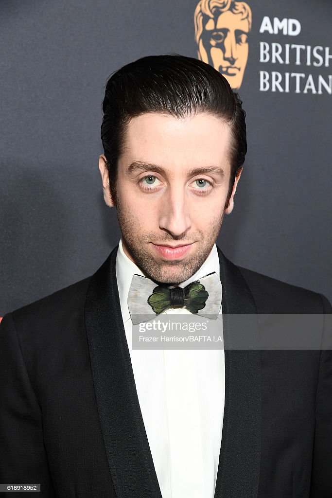 Actor Simon Helberg attends the 2016 AMD British Academy Britannia Awards presented by Jaguar Land Rover and American Airlines at The Beverly Hilton Hotel on October 28, 2016 in Beverly Hills, California.